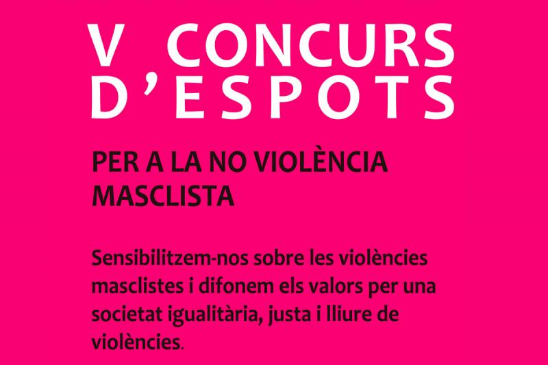 V concurs d'espots per a la no violència masclista